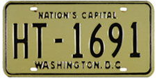 1968 (undated, exp. 3-31-69) Hire plate no. HT-1691