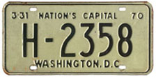 1969 (exp. 3-31-70) Hire plate no. H-2358