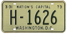 1972 (exp. 3-31-73) Hire plate no. H-1626