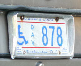 1991 base Handicapped DAV plate no. 878