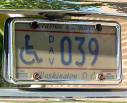 1991 base Handicapped DAV plate no. 039