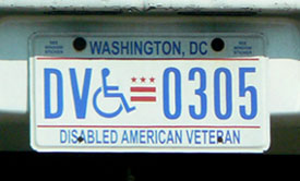 2000 base Handicapped DAV plate no. 0305