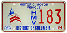 Historic Motor Vehicle plate no. 183