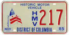 Historic Motor Vehicle plate no. 217