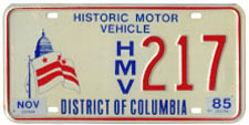 1979-2006 base historic motor vehicle plate no. HMV 217