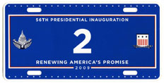 2009 Inaugural plate no. 2; click on image to see larger version