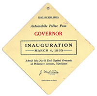 1933 Inauguration restricted area access pass