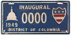 1949 Presidential Inauguration sample plate