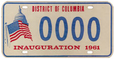 1961 Presidential Inauguration sample plate