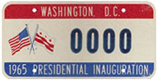 1965 Presidential Inauguration sample plate