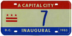 1983 Mayoral Inauguration plate no. 7