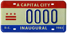 1983 Mayoral Inauguration sample plate
