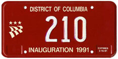 1991 Mayoral Inauguration plate no. 210