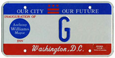 1999 Mayoral Inauguration plate no. G