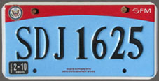 2007 base OFM Diplomatic Staff license plate no. SDJ 1625