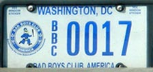 Bad Boys Club organizational plate no. BBC 0017