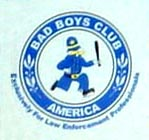 Bad Boys Club plate logo detail