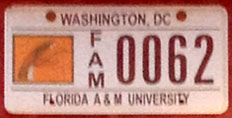 Florida A&M University organizational plate no. FAM 0026