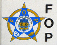 Fraternal Order of Police plate logo detail