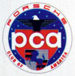 Porsche Club of America plate logo detail