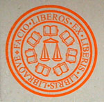 "The legend in Latin on the St. John's College seal translates to ""I make free adults out of children by means of books and a balance."" The school is located in Annapolis, Maryland."