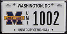 University of Michigan organizational plate no. UMI 1002