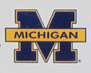 University of Michigan plate logo detail