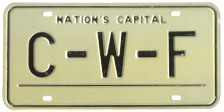 1964 base Personalized plate no. C-W-F