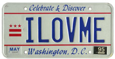 1991 base Personalized plate no. ILOVME validated through May 1995