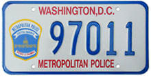 current Police Dept. plate no. 97011