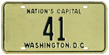 1968 Reserved plate no. 41 was not issued according to the assignee list published in June of that year