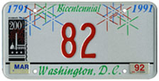 City Bicentennial plate no. 82