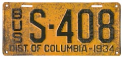 1934 Sightseeing Bus plate no. 408