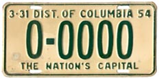 1953 sample plate (exp. 3-31-54)