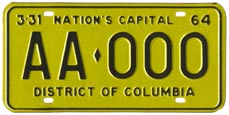 1963 sample plate (exp. 3-31-64)