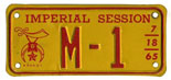 1965 Shrine convention motorcycle plate