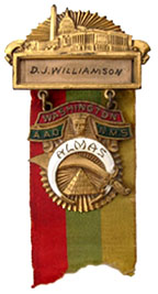 1923 Shrine National Convention badge