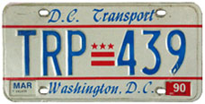 1984 base transport plate no. TRP-439