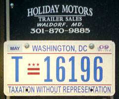 2009 Trailer plate no. T-18276
