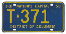 1957 (exp. 3-31-58) Trailer plate no. T-371
