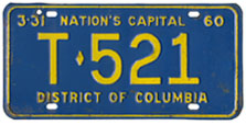 1959 (exp. 3-31-60) Trailer plate no. T-521