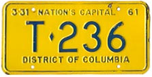1960 (exp. 3-31-61) Trailer plate no. T-236
