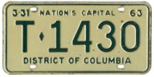 1962 (exp. 3-31-63) Trailer plate no. T-1430