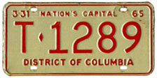 1964 (exp. 3-31-65) Trailer plate no. T-1289