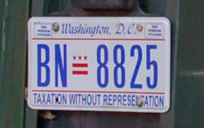 D.C. auto plate number BN-8825