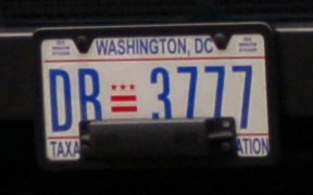 D.C. auto plate number DB-3777
