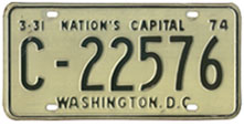 1973 Commercial (Truck) plate no. C-22576