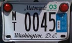 2002 Motorcycle plate no. MT-0045