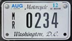 2011 Motorcycle plate no. MR-0234