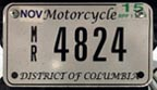 2014 Motorcycle plate no. MR-4824